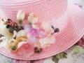 Dulce Lolita princesa sombrero Lolita rosa sombrero lourie vendimia forest estilo de encaje arco paja de ala plana sombrero originales hechos a mano sunhat