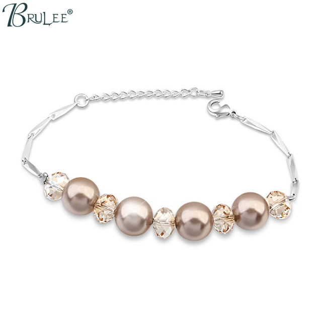 2017 New Fashion Pearl from Swarovski Bracelet Water Drop Bradawl Luxury Bangles Women Romantic Jewelry Wholesal