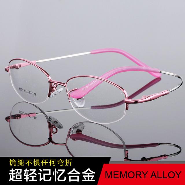 Женщины гибкая рука очки Ультратонких сплав зрелище оптический полукадра мужчины Близорукость очки кадр Óculos Де Грау TG8035