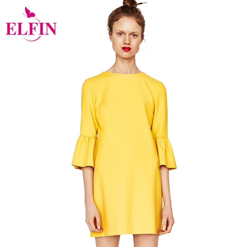 Las mujeres del verano media manga de las colmenas casual dress mini vestidos de