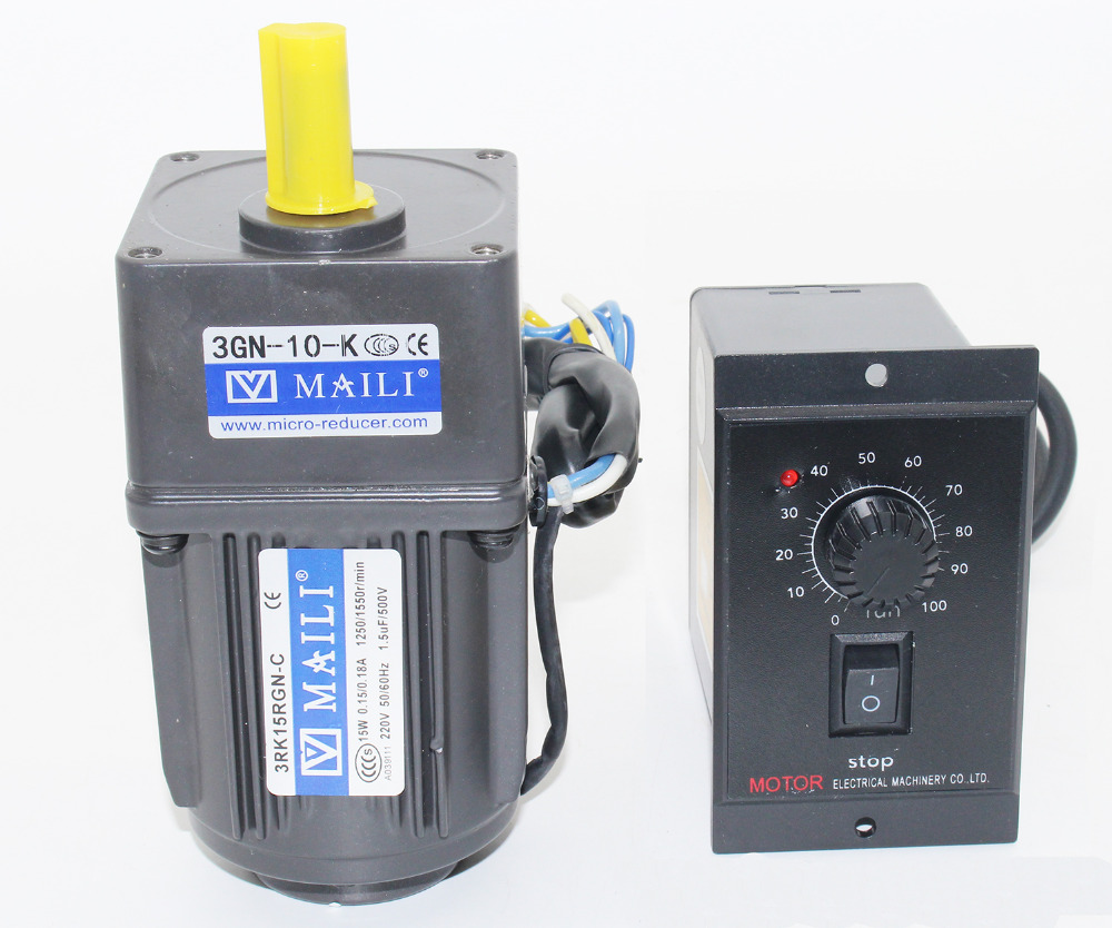 220V 15W AC gear motor,electric motor variable speed controller Reduction ratio 1:10 speed 125RPM Y220V 15W AC gear motor,electric motor variable speed controller Reduction ratio 1:10 speed 125RPM Y