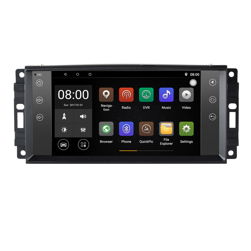 Android 9.1 Car DVD Player GPS For Jeep Commander <font><b>Grand</b></font> <font><b>Cherokee</b></font> Patriot Compass Liberty Wrangler 2007 <font><b>2008</b></font> 2009 2010 CanBus 4G image