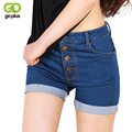 GOPLUS 2017 S-2XL High Waist Jean Shorts Stretch Denim Shorts Slim Korean Summer Fashion Women Short En Jean Taille Haute C2297