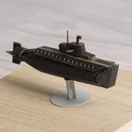 3D Paper Crafts Template Mini Submarine Model For Kids Craft Mini Papercraft Template