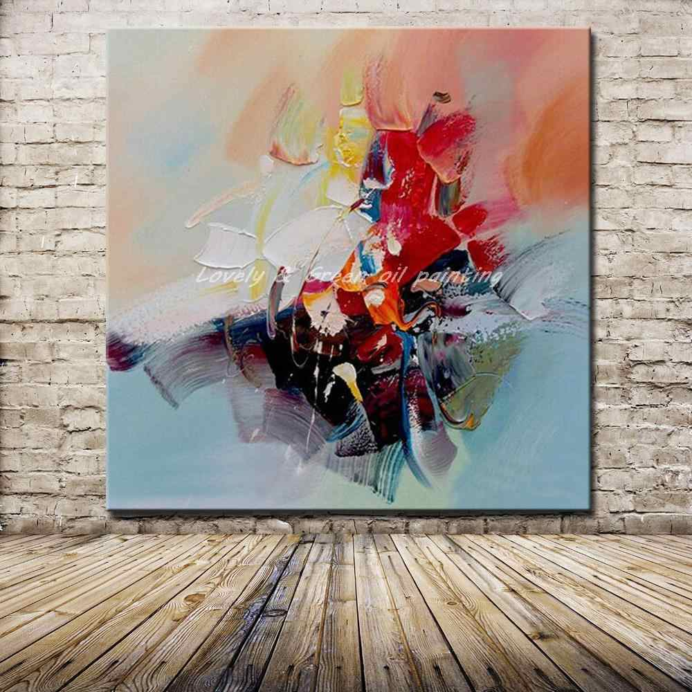 Hand Painted Abstract Design Knife Oil Paintings On Canvas Wall Art Pictures Modern Home Decoration Art For Living Room Big Size