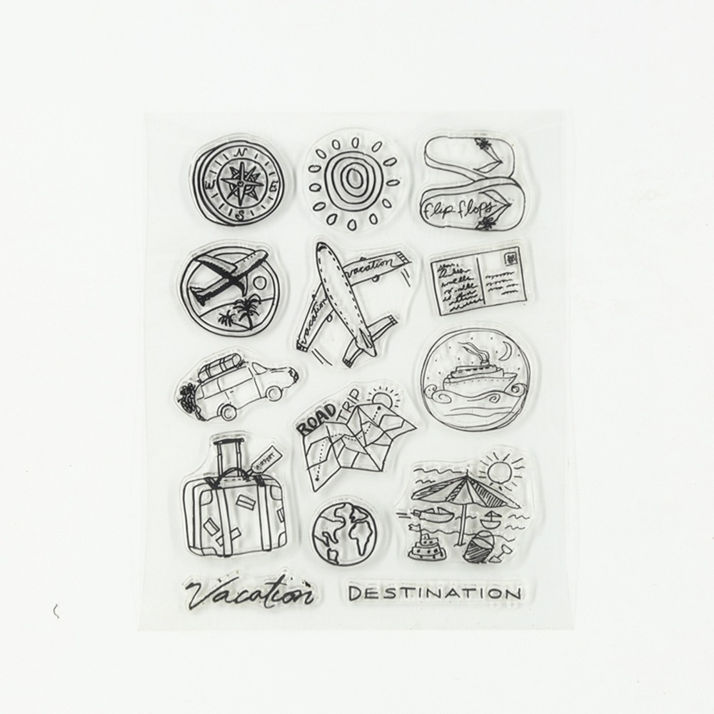 1 Set/lot new Air Travel Transparent Silicone Clear Stamp Seal for DIY Scrapbooking/photo Album Decorative Clear Stamp Sheets. ca0633 canada 2014 mammal stamp all sheets 1ms new 0626