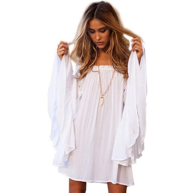 Легкие белые платья на лето