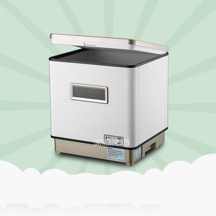 Automatique Lave-Vaisselle Petit Bureau Désinfection Séchage Un Indépendant Type Brosse Bol Machine Lavage Bol Plat Sec 1100 w XWJ-1606