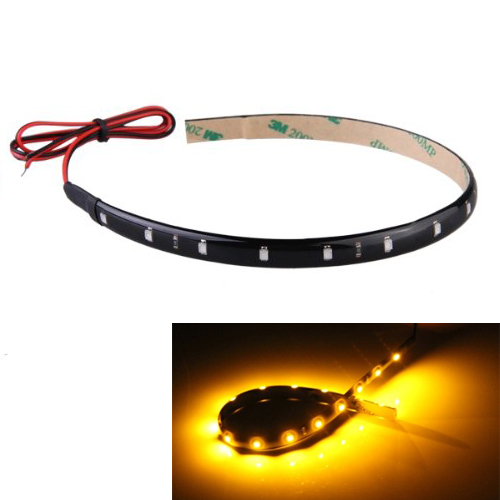Brand New 30cm 15 Neon Flexible Waterproof Orange LED Strip Bar Light Car Motor Truck