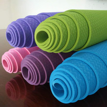 TPE Yoga Mat For Beginners Anti Slip sport mat non slip fitness mat with yoga rope gym mat 183*61cm*8mm