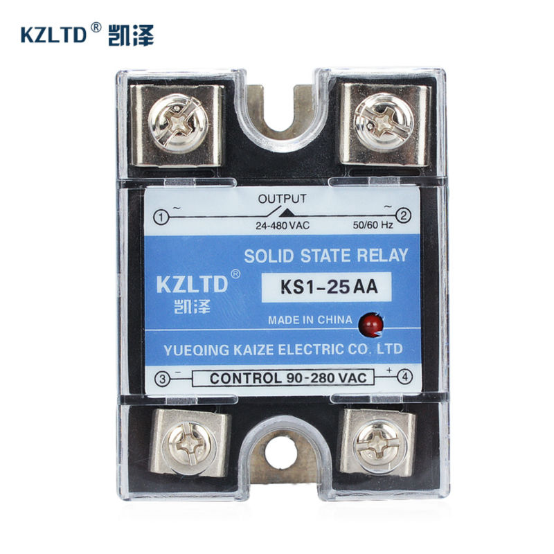 цена на New SSR Solid State Relays 25AA 90~280VAC to 24~480VAC relais 25A Voltage Resistance Regulator SSR-25AA Anti-vibration KS1-25AA