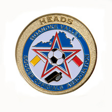 Custom football match soft Enamel Challenge coin select match soft