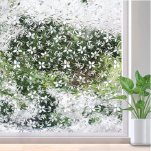 Funlife PVC Waterproof Window Cover Films No-Glue 3D Static Flower Decorative Privacy Bedroom Glass Sticker,30/45/60/75/90*300cm