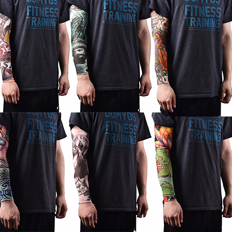 1Pc Anti-Sunshine Fashion Men And Women Tattoo Arm Leg Sleeves High Elastic Nylon Halloween Party Dance Party Tattoo Sleeve