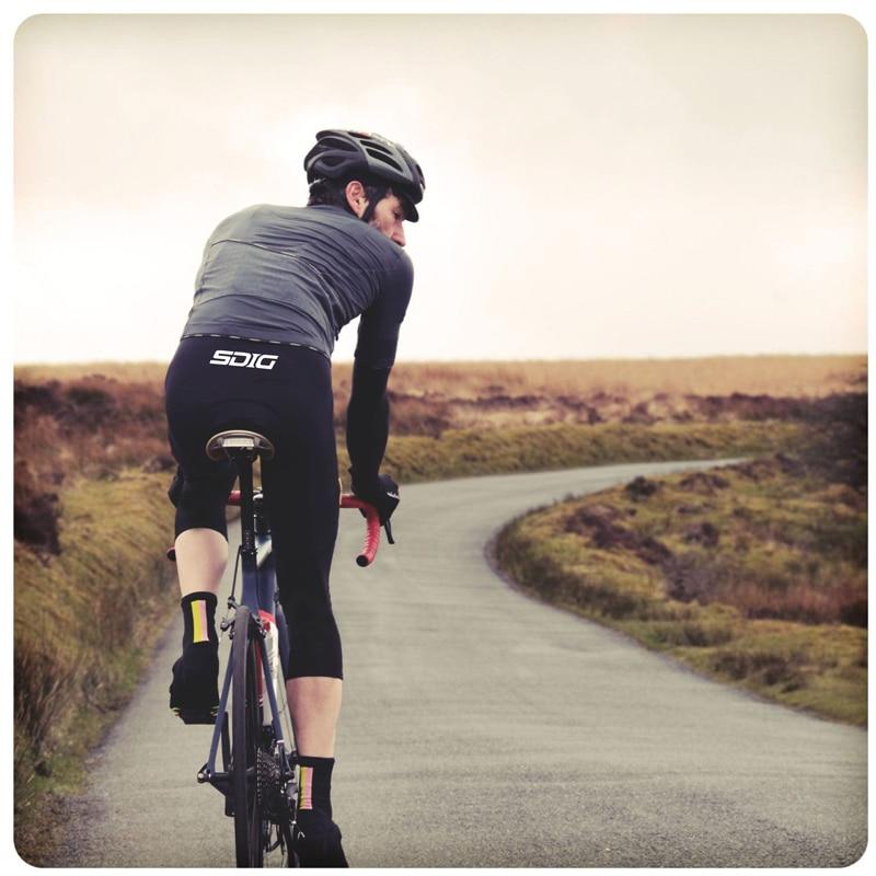 3/4 Black Thermal fleece Winter Bib pants With High density Pad quality fabric flatlock cycling bib [Can Custom LOGO