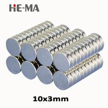 30Pcs 10x3 Neodymium Magnet Permanent N35 NdFeB Super Strong Powerful Magnetic Small Magnets HE-MA Disc 10mmx3mm