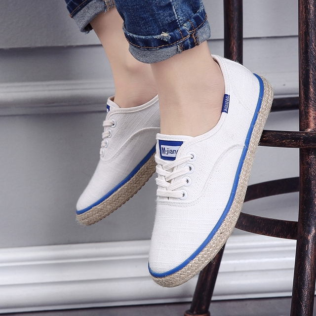 sales Free shipping 2017 spring new fashion women shoes canvas flats low breathable sport women casual Weaving hemp rope shoes