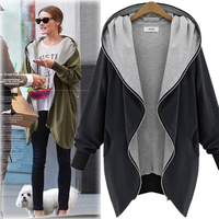 R&H 2018 New Coat Trench Casual Female New Hooded Zippered Cardigan Trench Autumn Thin Long Sleeved Trench For Women R&H 9818