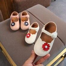 Одежда для малышей для маленьких девочек с жемчугом и цветами для маленьких девочек обувь прекрасная Bowknot кожаные туфли Анти-скольжения сникерсы на мягкой подошве#9