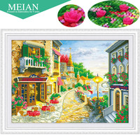 2016 New 5D Diamond Embroidery Seaview Cafe Sea Coffee Diamond Painting Mosaic Painting 3D Pictures Needlework