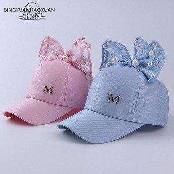 46e84fe15 BINGYUANHAOXUAN niños gorra de béisbol sombrero para niñas bebé hilo arco  de malla de verano de
