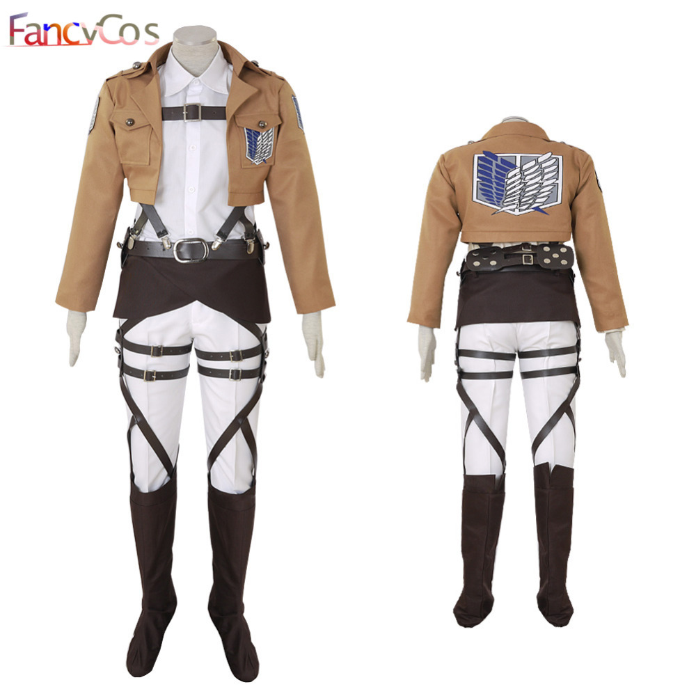 Halloween Attack on Titan Shingeki no Kyojin Armin Arlert Survey Corps leather Cosplay Costume Game Japanese