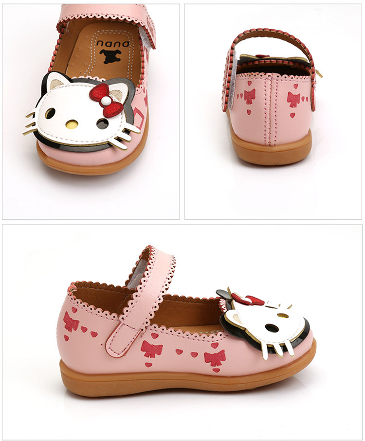 KINE PANDA Children Dress Shoes Girls Little Kids Shoes for Girl Cute HELLO  KITTY Princess Shoes Wedding Dance PU Leather 21 30-in Leather Shoes from  Mother ... 7e74e4ac1ef6