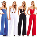 Adogirl New 2016 Summer Women Sexy Strapless Off Shoulder Jumpsuit Ladies Nigth Club Long Pants Overalls For Women Bodysuits