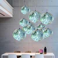 Modern Tom DIXON Melt Pendant Light Glass Lava Irregular Silver Hanglamp Lighting for Living Room kitchen hanging light fixtures