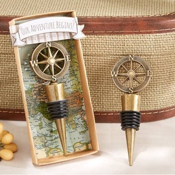 "wedding party favors gift and giveaways for guests - ""Our Adventure Begins"" Bottle Stopper party souvenir presents 60pcs/lot"
