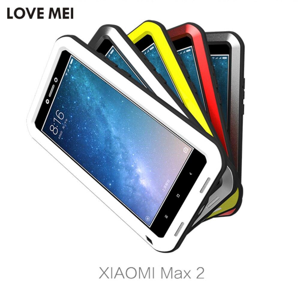 imágenes para Amor Mei Potente Para Xiaomi mi Max 2 Heavy Duty protección Armor Caja de Metal Para Xiaomi mi Max2 Agua Cubierta A Prueba de Golpes caso