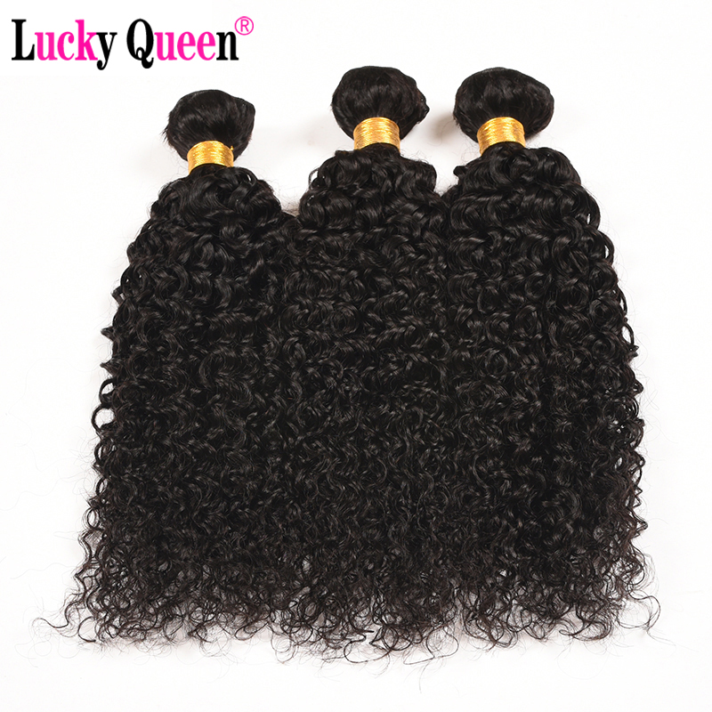 Lucky Queen Hair Products Peruvian Kinky Curly Hair 3 Bundles 10-28 Inch 100% Human Hair Extensions Non-Remy Hair Weave Bundles