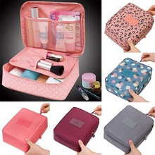 Women Makeup Bag Oxford Zipper Large Cosmetic Bag Case Storage Handle Organizer Multifunction Travel Waterproof Wash Bag