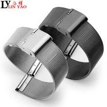 24b7e3d8999 Banda de aço inoxidável com pulseira de relógio ultra-fino de metal de aço  sólido