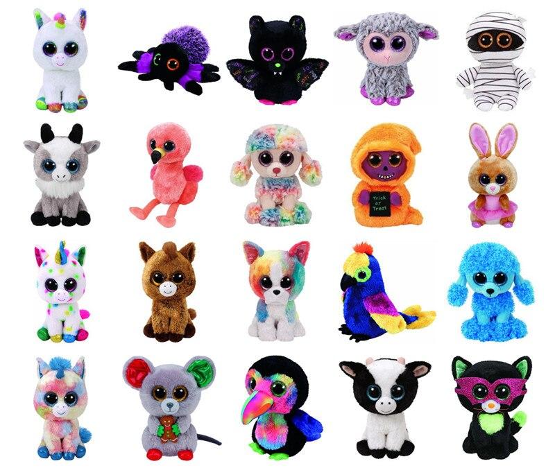 """Big Eye Foxes Unicorn Dog Bat Spider Monkey Plush Toy Doll Stuffed & Plush Animal 6"""" 15cm(China)"""
