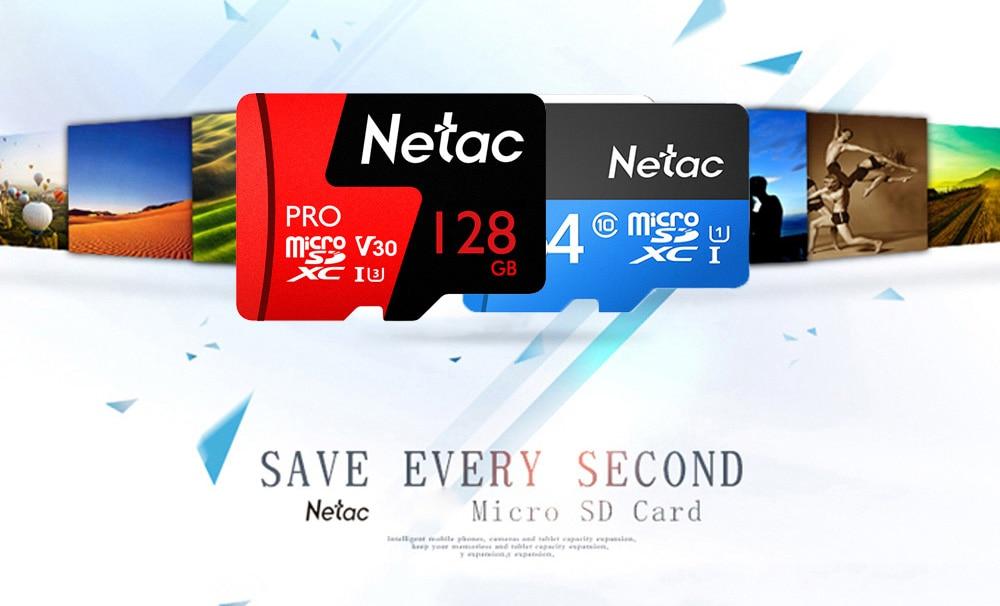 Netac Class 10 32GB 64GB 256 GB Micro SD Card 16GB 128GB 32 64 GB TF Card Data Storage Flash Memory Card For Smartphone Phone 2