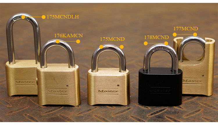 MASTER LOCK Tamper-proof Anti-corrosion Anti-rusting Waterproof BrPassword Combination Code Lock Padlock Anti-theft 178MCND (1)