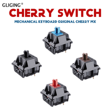 10 pieces original cherry Mx mechanical keyboard switch 3 pin clear switch black axis brown axis blue axis Red axis switch [vk] newark part lce1n2g242 photoelectric encoder switch 24 bit 18mm axis