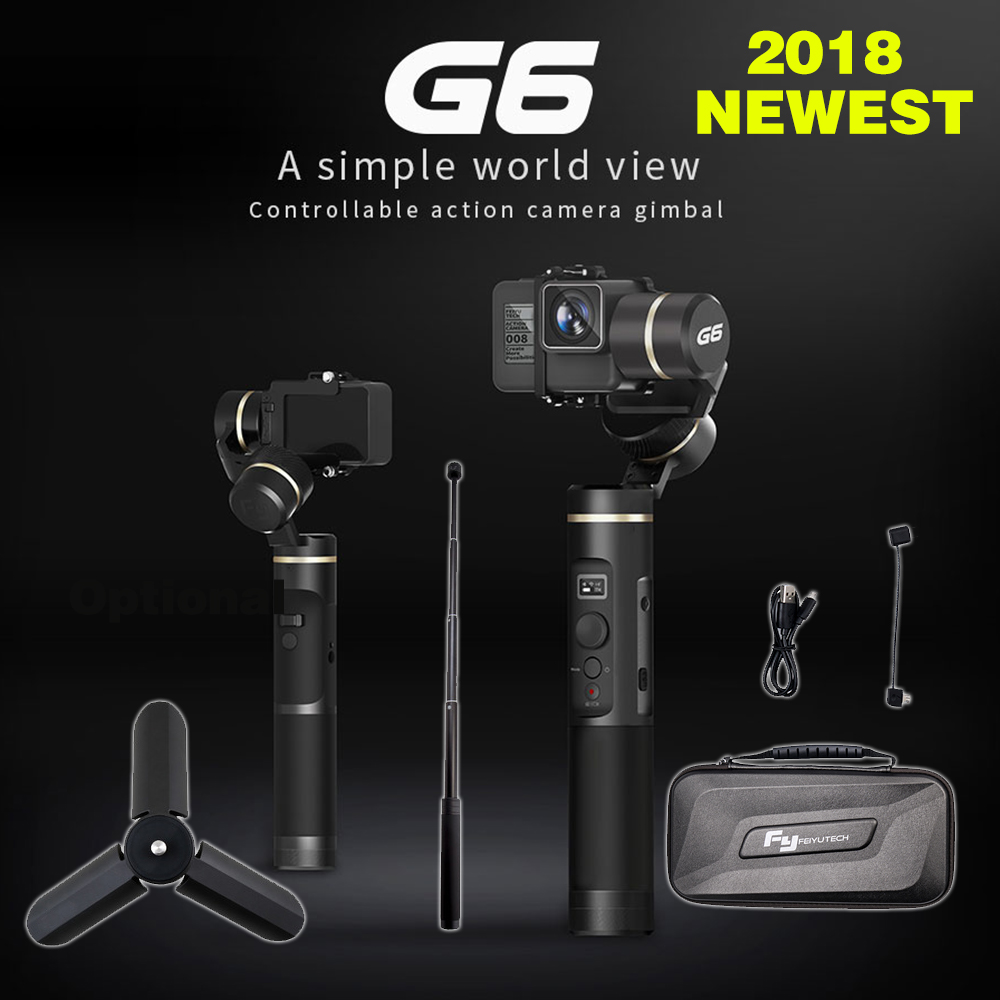 FeiyuTech feiyu G6 Cardan Feiyu D'action Caméra Wifi Bleu Dent OLED écran Angle pour Gopro Hero 6 5 4 RX0 xiaomi yi sony