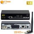 De alta Calidad de Super V8 Receptor de Satélite + 1 UNID Powervu Wifi USB 1080 P HD Ayuda CCcam IPTV DVB-S2 Receptor Digital de Satélite