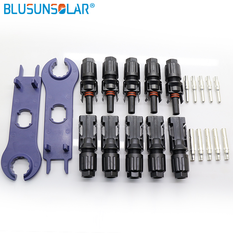 5 Pairs MC4 Connector And MC4 Spanner Solar Panel Connector Pins Terminals TUV UL MC4 Male Female Connector