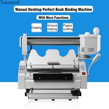 2019 New Perfect Book Binding Machine 5 functions in 1 Combo Hot Melt Glue Book binder