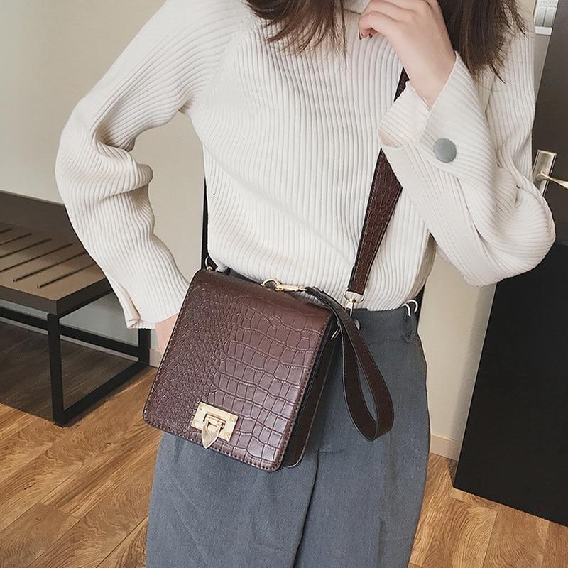 DIINOVIVO Fashion Alligator Female Handbags Designer Crossbody Bags for Women Small Square Bag Shoulder Messenger Purse WHDV0917 4