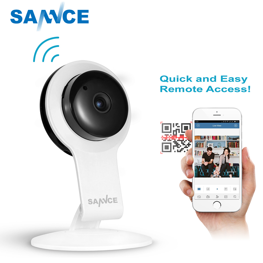SANNCE Nouvelle Caméra IP WIFI 720 P Home Security Système de Surveillance Onvif P2P Téléphone À Distance 1.0MP Sans Fil Vidéo Surveillance Caméra
