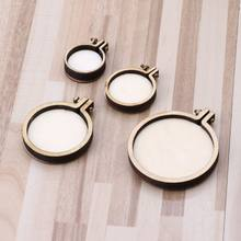 DIY Wooden Cross Stitch Hoop Mini Ring Embroidery Circle Kit Frame Craft(China)