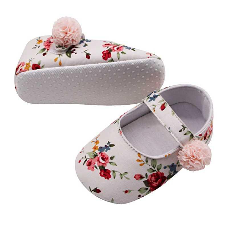 Baby Schoenen Meisje Ademend Bloemenprint Anti-Slip Schoenen Casual Wandelschoenen Schoen Peuter Zachte Zolen Eerste Wandelaars