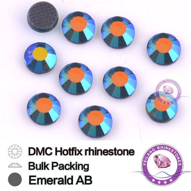 Emerald AB SS16 SS20 SS30 Bulking Packing HotFix Rhinestone For Garments Bags And Shoes