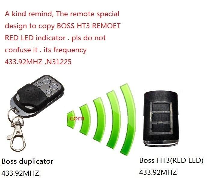 After Market Boss BHT3,HT3,BOL6,OL6,BRD9,RD9  models compatible remote, BOSS bht3 remote ,boss HT3 remote boss cs 3