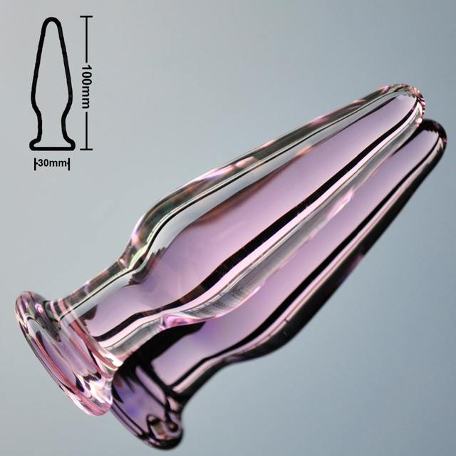 Glass butt plug 30mm
