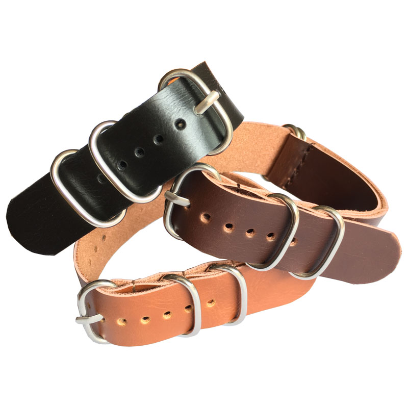 Buy 2 Get 20% OFF) Nato black Brown Ring Buckle 18mm 20mm 22mm Watchbands Men Women Casual Watches Strap Wristwatch Band zulu